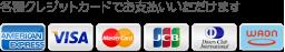 各種クレジットカードでお支払いいただけます